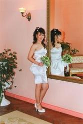 Белое вечернее (свадебное) платье