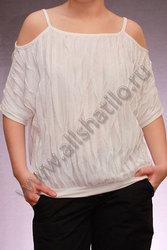 Белая женская блузка