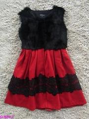 оптовая высокое качество и моды Шанель волос кролика платье