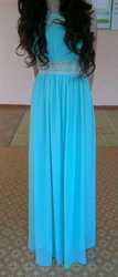 продаю длинное вечернее платье бирюзового цвета ( одевалось 1 раз)