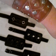 браслеты hand-made. Кожа