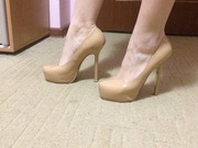 Продаю бежевые туфли на скрытой платформе 38 размера (на 37, 5 тоже как