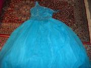 Продаю шикарное выпускное платье цвета морской волны